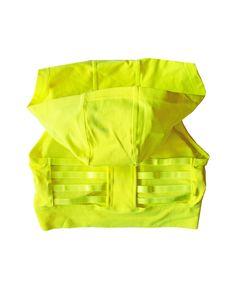 Neon Yellow Sports Bra Hoodie   Runner Island Activewear – Runner Island® Lower Ab Workouts, Gym Workouts, Marathon Motivation, Running Motivation, Fitness Motivation, Running Schedule, Yellow Sports Bras, High Support Sports Bra, Workout At Work