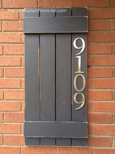 DIY House Numbers - DIY Wooden House Number Sign - DIY Numbers To Put In Front Yard and At Front Door - Architectural Numbers and Creative Do It Yourself Projects for Making House Numbers - Easy Step by Step Tutorials and Project Ideas for Home Improvement on A Budget http://diyjoy.com/diy-house-numbers