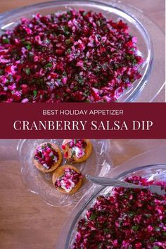 This cranberry salsa with cream cheese recipe is not only a great holiday appetizer but truly evergreen. There's something about the flavor combinations of the tart, fresh cranberries, the zing of the jalapeños, and the complexity of the cilantro that can (and should!) be enjoyed year-round. Best Holiday Appetizers, Yummy Appetizers, Appetizers For Party, Appetizer Recipes, Party Snacks, Sweets Recipes, Dip Recipes, Easy Recipes, Eten