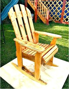 DIY Wood Pallets Rocking Chair Pla - 17 Pallet Chair Plans to DIY for Your Home at No-Cost - DIY & Crafts