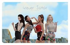 Flower Chamber: 4ever Sistar Poses Set • Sims 4 Downloads