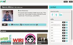 revl screenshot / focusing on the profile feature