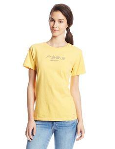 934e2b010 Life is good Women's Crusher Four Seasons T-Shirt, Honey Gold, Medium -