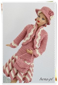 "bena-pl.. Clothes for Tonner Tiny Kitty Collier 10"" - OOAK outfit"