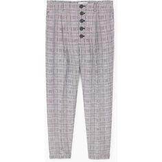 MANGO Prince of Wales trousers (3.445 RUB) via Polyvore featuring pants, mango trousers и mango pants