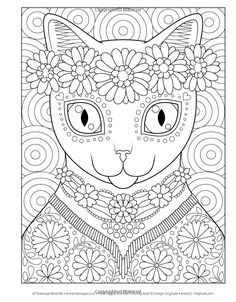 Amazon Hippie Animales Coloring Book Colorante Es Diversion 9781497202085