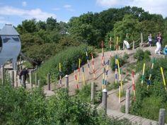 Nature playground in Valbyparken, Copenhagen.