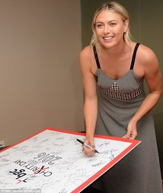 On auto pilot: She then lended her signature to a board commemorating the…
