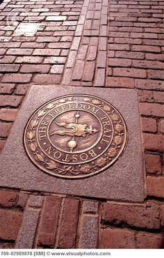 Freedom Trail.. have you walked it? I did in 8th grade...Boston, Massachusetts