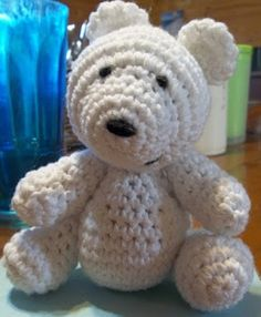 Cute crochet patterns for free! Polar bear, hippo, mouse, ninja, pup, frog prince, and hen.