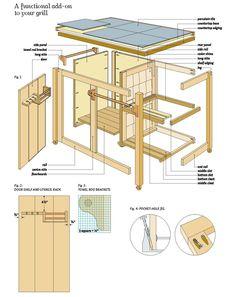 free BBQ Cart Wood plans