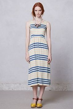 Spring Stripe Midi Dress | Anthropologie.eu