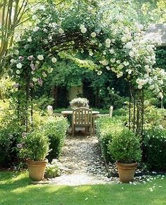 Gardens of My Dreams dreamy garden design garden ideas backyards. garden space romantic garden with climbing roses european garden The post Gardens of My Dreams appeared first on Garden Ideas. Rose Garden Design, Cottage Garden Design, Backyard Garden Design, Backyard Landscaping, Landscaping Ideas, Patio Ideas, Pergola Ideas, Arbor Ideas, Creative Garden Ideas