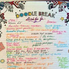Doodle break! #kit #keepingittogether #kit2014 #dailyplanner