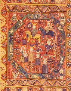 The Three Kings Worship tapestry from Skjåk Gudbrandsdalen Norway. Weaving Art, Tapestry Weaving, Loom Weaving, Medieval Tapestry, Textiles, Textile Patterns, Historical Art, Religious Art, Fiber Art