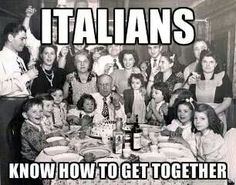 So grateful I grew in this style. Italian holiday or just a plain ole Sunday.yes, that's the way it's done! To have five minutes back at that table would be heaven. Italian People, Italian Girls, Italian Style, Italian Girl Problems, Italian Thanksgiving, Sunday Gravy, Italian Humor, Italian Sayings, Italian Traditions