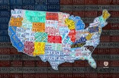 OTH LUCAS LICENSE PLATE MAP Canvas Framed on sale One Tree