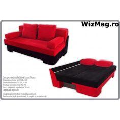 Canapea extensibila WIZ Diana 001 Diana, Couch, Furniture, Home Decor, Settee, Decoration Home, Room Decor, Sofas, Home Furnishings