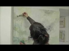 Abstrakt Malerei mit Lukas Farben von Sabine Endres / Abstract Painting by Sabine Endres - YouTube