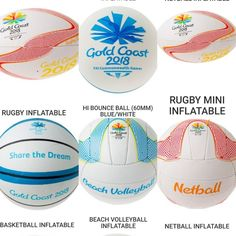More Christmas Gift ideas. Full range of Commonwealth Games Balls Available at our 2 Locations. Commonwealth Games 2018, Gold 2018, Netball, Beach Volleyball, Gold Coast, Things That Bounce, Balls, Blue And White, Range