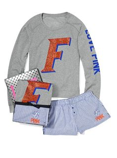 University of Florida Crew & Boxer Gift Set Victoria's secret $59.50 I need this I am in love with it <3 (: