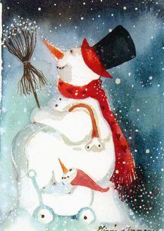 Snowman Illustration by Minna Immonen