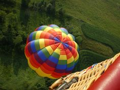 "Taking a pic of ""Too Fun"" from my 1st ride in a Hot Air Balloon called  ""Liberty Bell""."