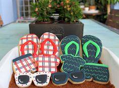 Muy cookie!: Vamos a la playa! Summer cookies # flip-flop cookies