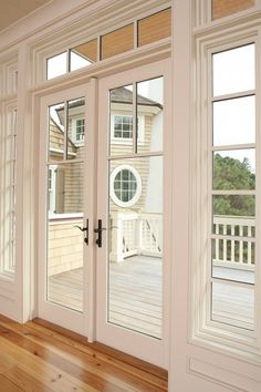Replace your old sliding doors with French doors! Add bronze hardware for even…