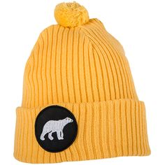 Polar_Light-Yellow Beanie, Outdoors, Wool, Yellow, Hats, Fashion, Moda, Hat, Fashion Styles