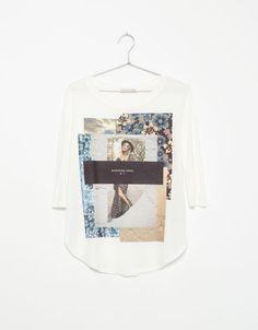 Maglietta Bershka stampa - Woman - Bershka Italia