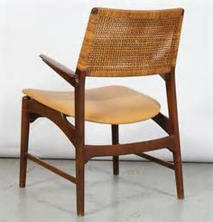 Danish Beech Arm Chair Attributed To Kurt Ostervig image 6