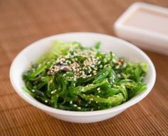 Search result for wakame salad. 37 easy and delicious homemade recipes. See great recipes for Summer vegetable & Wakame Seaweed Salad too! Seaweed Salad Recipes, Healthy Salad Recipes, Seaweed Salad Recipe Easy, Healthy Foods, Healthy Eating, Sea Vegetables, Veggies, Wakame Salad, Healthy Recipes