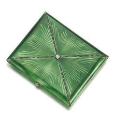 PROPERTY OF PRINCESS ISMENE CHIGI DELLA ROVERE Diamond, gold and enamel cigarette case, Fabergé, between 1899-1904