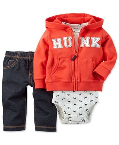 Carter's Baby Boys' 3-Piece Hunk Cardigan, Bodysuit & Pants Set