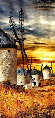 Consuegra, Castilla la Mancha, Spain #creativelolo#art#travel#photography#illustration#creative#design