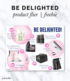 Mary Kay Be Delighted Holiday Products! Also available in with Canadian products! It's a FREEBIE! Find it only at www.thepinkbubble.co!