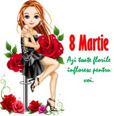 8 Martie Birthday Wishes Funny, Happy Birthday, 8 Martie, French Flowers, Free To Use Images, Ladies Day, Holiday Parties, Halloween Party, Birthdays