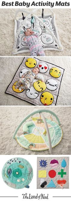 From marine and animal themes to bright and cheery colors, these baby activity mats are sure to make little ones smile. The soft rattles and plush construction make every tummy time experience filled with multisensory exploration. Plus, once playtime is over, just roll up the play mat and store it away.