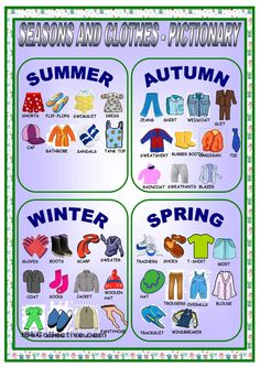 Geography Standard 1.2 Clothes and seasons pictionary- students can draw an article of clothing, their classmates try to guess the clothing and then say what season they can wear it.