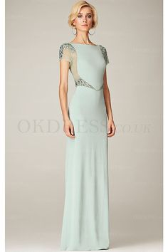 Cheap Floor-length Natural Bateau Sheath Mother of the Bride Dresses - by OKDress UK