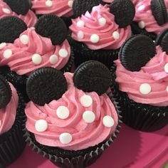31 New Ideas Birthday Party Ideas Food Girls Minnie Mouse Minnie Mouse Birthday Theme, 2nd Birthday Party For Girl, Minnie Mouse Baby Shower, Girl Birthday Cupcakes, Minnie Mouse Baby Stuff, Cupcakes For Girls, Birthday Party Foods, Birthday Food Ideas For Kids, 1st Birthday Party Ideas For Girls