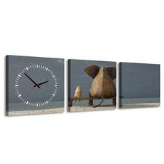Zegar ścienny - obraz 4MyArt Frends, 35 x 105cm | sklep PrezentBox - akcesoria, zegary ścienne, prezenty