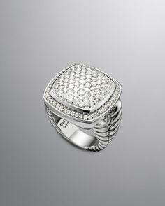 Albion Ring Pave Diamond, 17mm by David Yurman at Neiman Marcus.