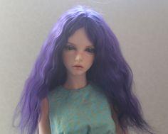 Violet Angora Wig for  Iplehouse YID and similar size  dolls head
