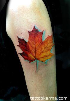 maple lef tattoo - Google-haku