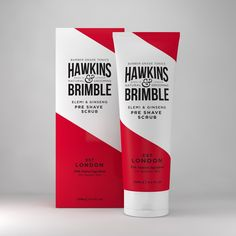 Hawkins & Brimble Pre Shave Scrub Box 125ml  www.hawkinsandbrimble.co.uk