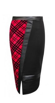 Gorgeous…  Jamie PVC Tarta Check Pencil Skirt