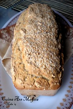 Pan de trigo sarraceno y centeno con semillas | CUINA ARS MAGICA Biscuit Bread, Pan Bread, Baby Food Recipes, Bread Recipes, Vegan Recipes, Bread Without Sugar, Vegetarian Times, Sin Gluten, Deli