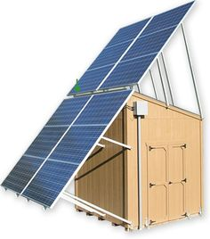 Powershed: Fully Self-Contained Portable Solar Energy System  <3